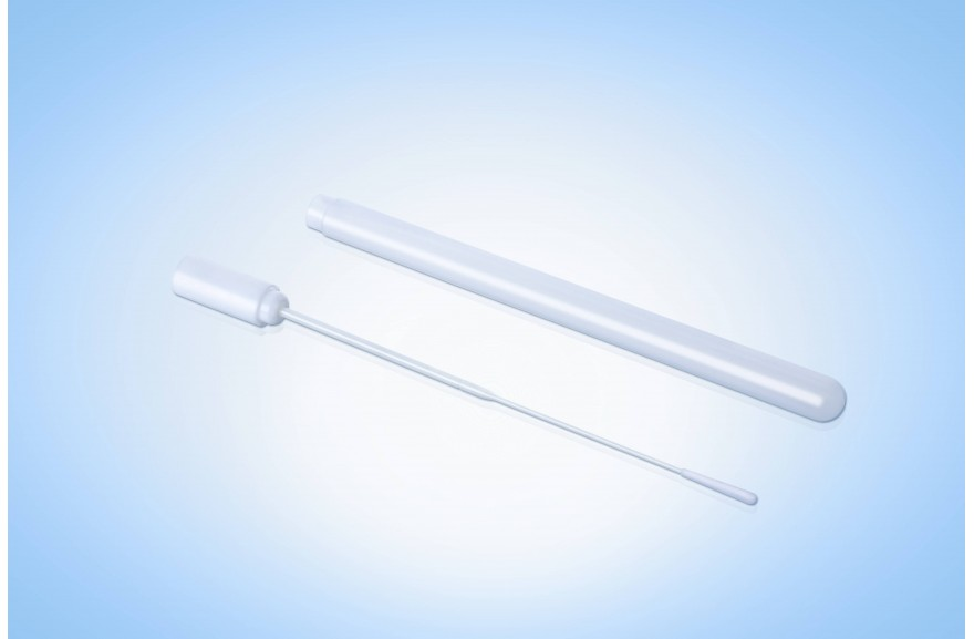 Test tube with swab,Empty TUBE WITH SWAB+Flocked tip